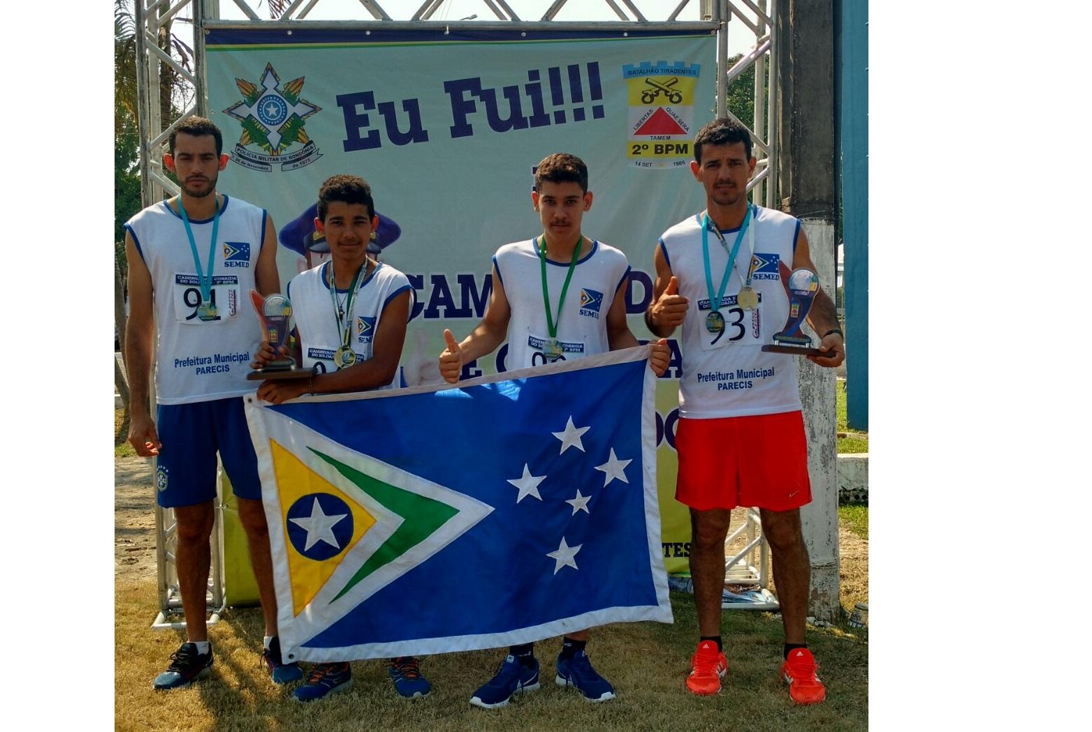 Atletas do Município de Parecis participam da 1ª Caminhada e Corrida do Soldado, em Ji-Paraná