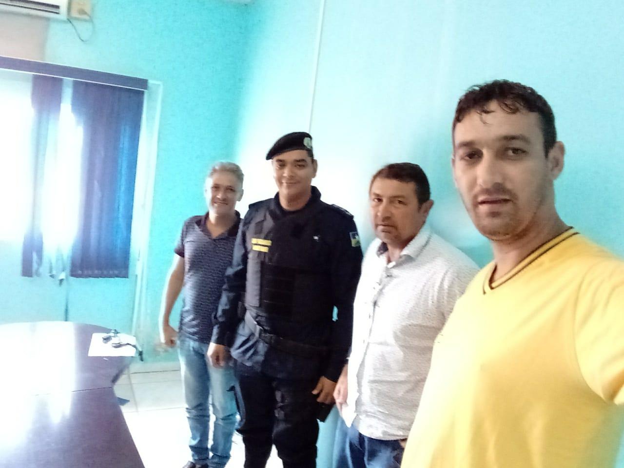 Reunião com o Comodante da Policia Militar de Rolim de Moura