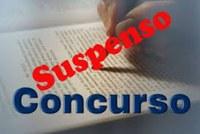SUSPENSÃO DO CONCURSO PUBLICO